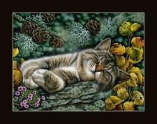 Tabby Cat Wild Corner Print by I Garmashova