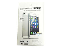 Front & Back Clear Film Screen Protector+Cleaning Cloth for Iphone 5 5S Sealed
