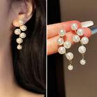 Fashion Pearl Grape Long Tassel Earrings Ear Stud Drop Dangle Women Jewelry Gift
