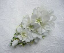 Wedding Flower Buttonhole Ivory Delphinium & Stephanotis .....PIN ON