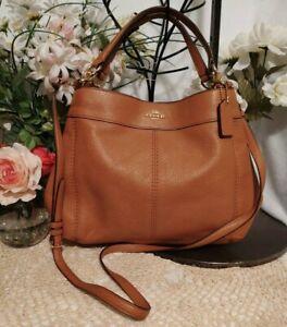 NWOT Coach Lexy Pebbled Leather Crossbody Shoulder Handbag F28992 Brown