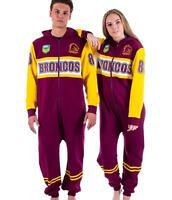 NRL Onesie Footy Suit - Brisbane Broncos - Infant Kids Youth Adult - All Sizes