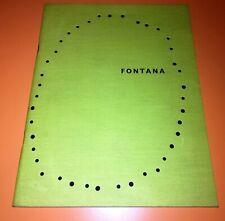 Catalogo / Libro d'artista Lucio Fontana Ten Paintings of Venice Martha Jackson