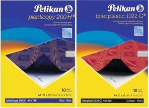 Pelikan® Kohlepapier A4 Durchschreibpapier Pauspapier 10 Blatt blau o. schwarz *