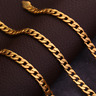 """18k Gold Plated Stamped Chain Men Necklace Yellow Flat Chain Pendant 16-30"""" 6MM"""