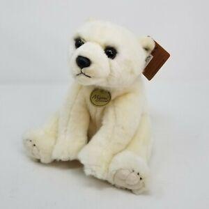 """New Aurora 9"""" Plush Polar Bear Stuffed Animal Miyoni Fuzzy Furry Small"""