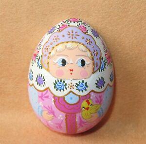 Egg Matryoshka Fridge Magnet Russian doll HAND PAINTED Traditional MITINA GIFT