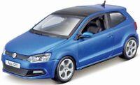 BURAGO 21059B VW POLO GTI M5 diecast model road car blue body 1:24th scale