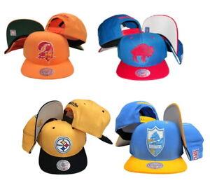 Mitchell & Ness Men's NFL Vintage Primary Logo Adjustable Snapback Hats