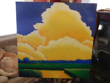 "ORIGINAL MICHEL CAMPEAU ABSTRACT PAINTING ""MARSHLAND SUNSET #2"""