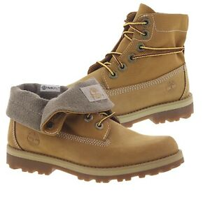 5y Timberland Courma Kid Roll Top Unbuckle Leather Boot Wheat AUTHENTIC **NIB