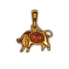 Sternzeichen – Anhänger Stier – Silber vergoldet – 21.April - 20.Mai