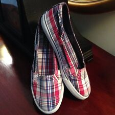 Sperry Top-Sider Boat Shoes Plaid Freeport Sz 9 RTL $59
