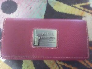 LADIES BURGUNDY PURSE EXQUISITE LEATHER BNWT