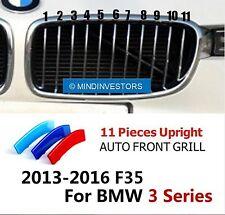 M-Tech 11 Slats Kidney 3D Grille 3 Colour Cover Clips BMW 3 Series F35 2013-2017