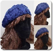 Beret Baskenmütze Strickmützen Wollmütze Hut Wintermütze Paris Beanie Blau Warm