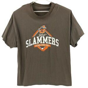Joliet Slammers T-Shirt Mens 3XL Minor League Baseball Brown