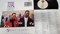 TOTAL CONTRAST - Beat to Beat (EX/NM) 1987 PROMO Modern Soul Funk LONDON LP