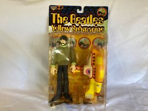 McFarlane THE BEATLES Yellow Submarine Action Figure George and Submarine NEW