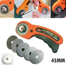 Rotary Cutter Professional Quilting Roller Fabric Cutting Tool+5 Blades /10 Y2I5