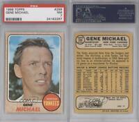 1968 Topps #299 Gene Michael PSA 7 NM New York Yankees Baseball Card