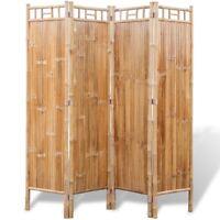 vidaXL 4Fach Bambus Raumteiler Paravent Trennwand Sichtschutz spanisch 160x160cm