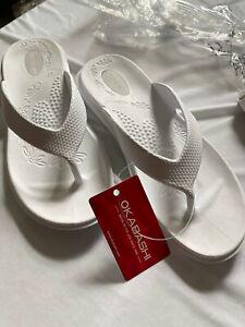Okabashi White Maui Flip Flop Women's Medium NWT