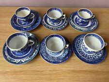 Eclectic collection of Blue and White 6 Person Tea Set VINTAGE BARGAIN