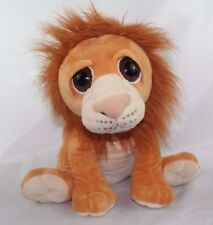 "Petting Zoo Plush Big Sad Eye Sitting Lion 1994 14"" Stuffed Animal"