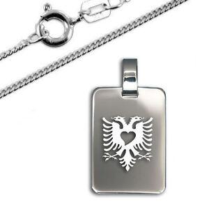 Anhänger albanische Adler, 925er Sterling Silber, Inkl. Kette-Neu- vers2