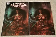 AMAZING SPIDER-MAN 20 LGY 821 LUCIO PARRILLO CALYPSO VIRGIN VARIANT 2-PK HUNTED!