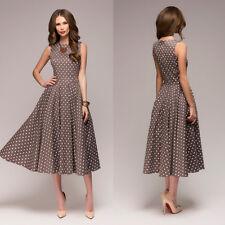 Women's Polka Dot A-Line Swing Elegance Cocktail Dress Evening Party Dresses US