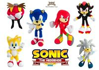 Tomy Sonic Hedgehog Small Plush Soft Toy Knuckles Eggman Silver Tails Shadow