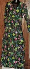 Vintage 70s LIBERTY CIRCLE Hippie MOD maxi Dress gown, colorful abstract design