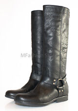 Steve Madden HOLDEN Harness Leather Knee High Riding Style Boots Black Size 6M