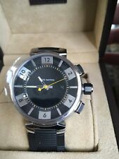 Louis Vuitton Mens Tambour In Black watch Q118f1 New Mint Condition!!!