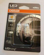 OSRAM W5W, W2. 12V / 1W LED AMBER / YELLOW  TWIN PACK 2880YE-02B ( 2 BULBS )