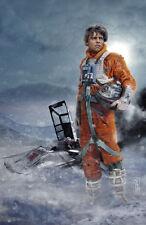 Star Wars Luke Skywalker facing off Kylo Original Art Print signed Scott Harben