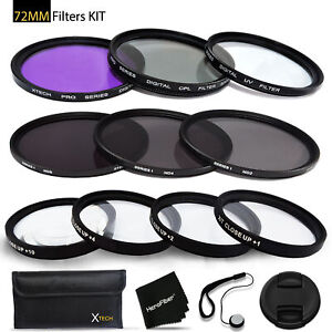 72mm Filters Set for 72mm Lenses and Cameras includes: 72mm Close-Up Macro
