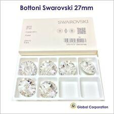 8 BOTTONI SWAROVSKI ORIGINALI ORIGINALE 27mm CRISTALLO ART. 3015 CRYSTAL CUCIRE