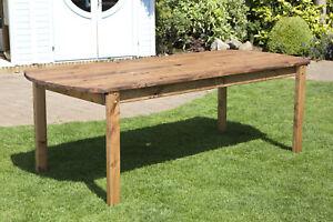 Home Gift Garden 8 Seat Rectangular Wood Outdoor Dining Set, Parasol & Cushions