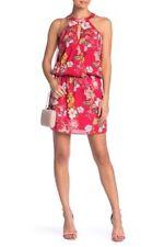Parker Carlotta Floral Keyhole Blouson Dress  sz M