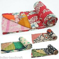 10 Quilts Vintage Kantha Gudri Reversible Throw Ralli Bedspread Bedding GD1