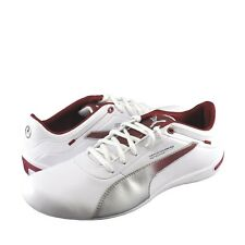 PUMA Touring Cat MAMGP Round Toe Leather Sneaker White/Red Men's Size: 7