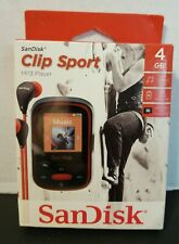 SanDisk Clip Sport MP3 Player 4GB Red *NEW*