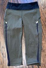 Lululemon Dark Olive Green Cropped Leggings Womens 6