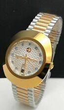 Vintage Rado Diastar Automatic Two-Tone White Dial Blue Stone Men's Wrist Watch
