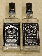 2x Jack Daniels EMPTY Glass Bottle with Cap Old No. 7 Tennessee Whiskey (1.75 L)