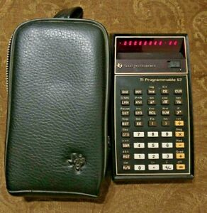 Texas Instruments TI-57 Programmable Calculator with case - works