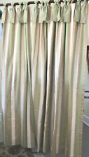 Gorgeous Custom Made Fully Lined Multi-color Vertical Stripes Shower Curtain